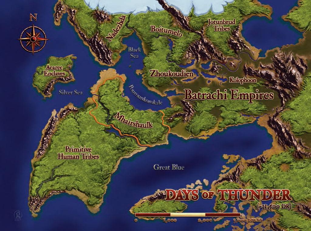 Mapa Days Of Thunder - de Adam Gillespie