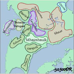 Império Aeraee cerca de -30500 CV