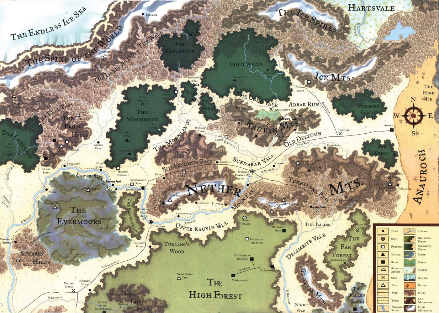 Mapa das Fronteiras Prateadas