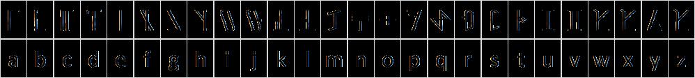 Dethek_alphabet