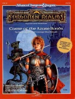 Aventura - Curse of the Azure Bonds (capa)